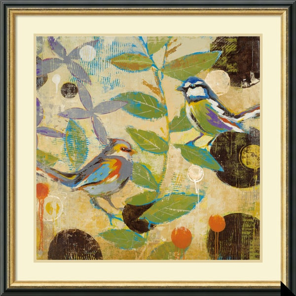 Liz Jardine 'Flew The Coop II' Framed Art Print 32 x 32-inch