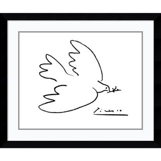 Pablo Picasso 'Dove of Peace' Framed Art Print 36 x 30-inch
