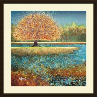 Melissa Graves-Brown 'Jewel River' Framed Art Print 34 x 34-inch