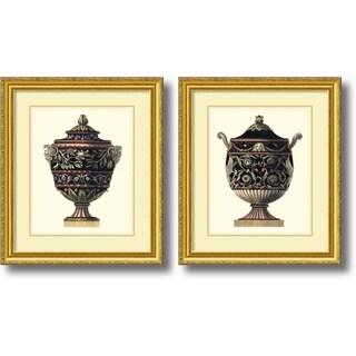 Da Carlo Antonini 'Antonini Clementino Urn I, IV- set of 2' Framed Art Print 23 x 26-inch Each
