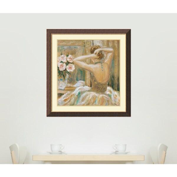 Karen Dupre 'Tres Joli (Very Pretty)' Framed Art Print 34 x 35-inch