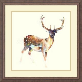 Charmaine Olivia 'Deer Wearing Gym Socks' Framed Art Print 25 x 25-inch