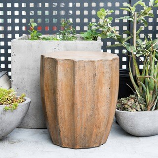 Eco-concrete and Jute Fiber Jagged Umber Stool