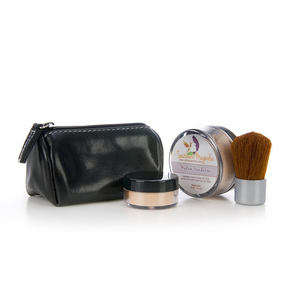 On-The-Go Quick Fix Mineral Makeup Kit with Kabuki Pouch