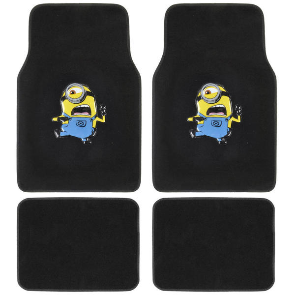 Despicable Me Minions Car Floor Mats - 4-piece, Universal Fit