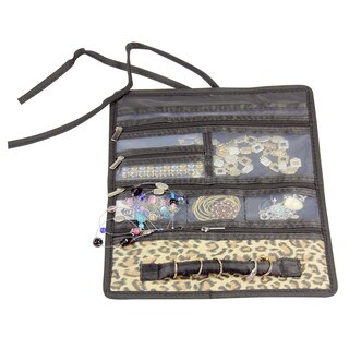 Household Essentials Leopard Travel Jewelry Roll