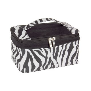 Household Essentials Zebra Expandable Travel Bag with Mirror
