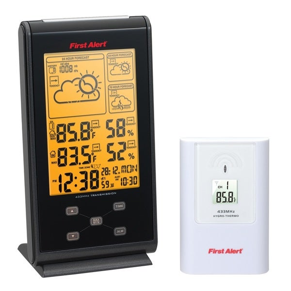 First Alert tRadio Controlled Wireless Weather Station with Dual Alarm Clock