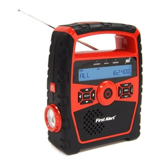 First Alert Portable AM/FM Weather Band Clock Radio with Weather Alert