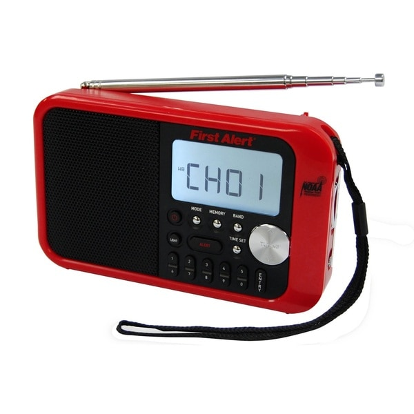 First Alert Digital Tuning AM/FM Weather Band Clock Radio
