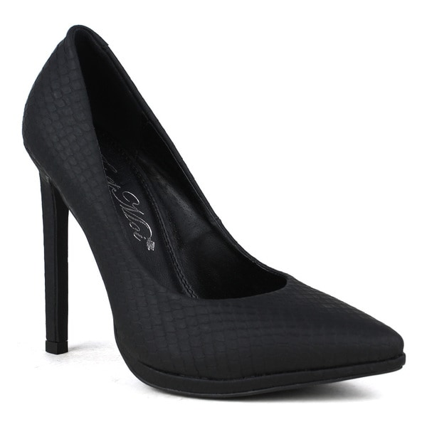 TOI ET MOI Women's Pizza-01 Snake Print Pointy-toe High Heel Pump