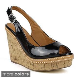 TOI ET MOI Women's Salad-01 Peep-toe Wedge Sandals