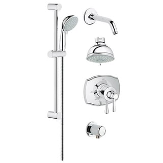 Grohe Grohsafe 2000 Authentic Bath Plus Starlight Chrome Shower Set