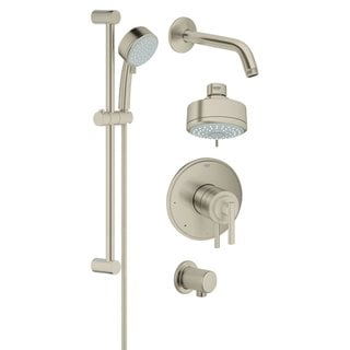 Grohe Atrio Jota Atrio Trimset Bath Plus Shower Set Brushed Nickel