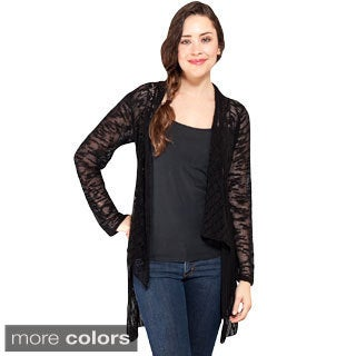 Women's High-lo Light Netted Bali Cardigan (Indonesia)
