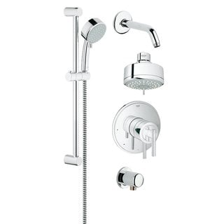 Groheflex Shower Set Starlight Chrome Timeless Dual Function