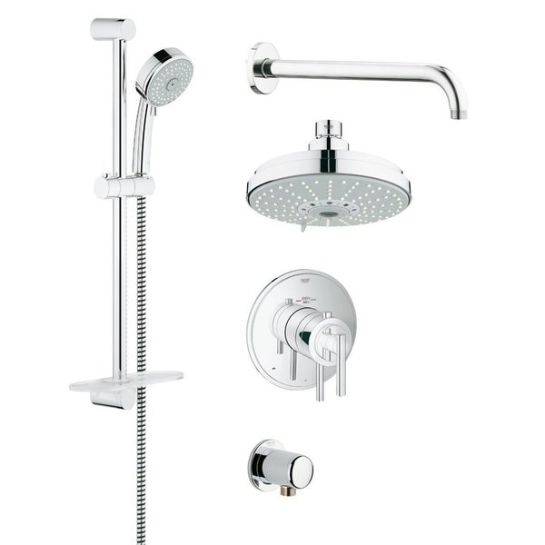 Grohe 35056000 GrohFlex Chrome Finish Rainshower and Hand Shower Set 15107255
