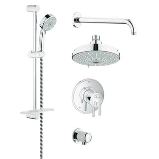 Grohe Atrio Jota Atrio Thermostatic Trim Rapido Bath Plus Shower Set Chrome