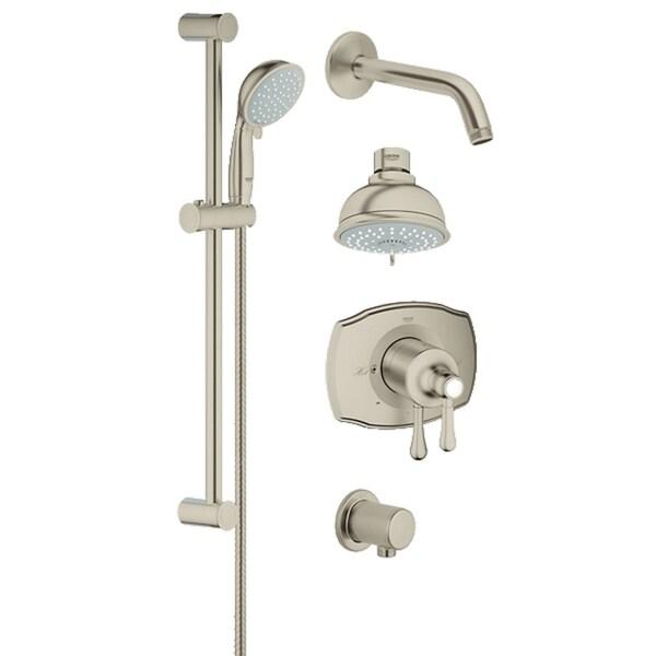Grohe Grohsafe 2000 Authentic Bath Plus Shower Set Starlight Chrome