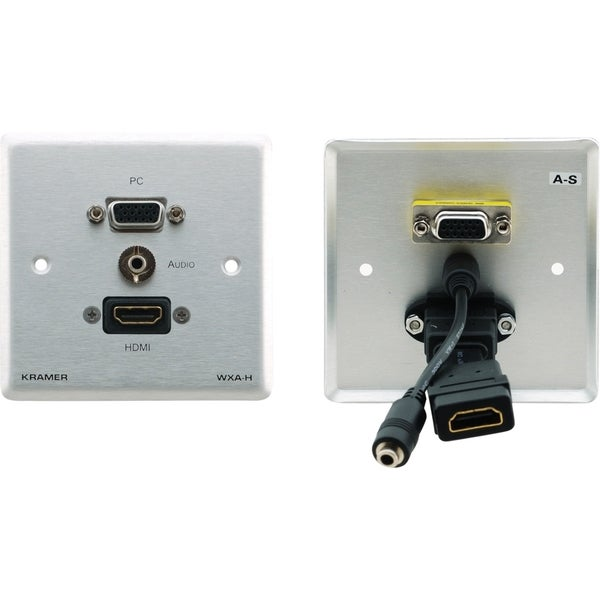 Kramer Passive Wall Plate ? 15?pin HD, 3.5mm Audio & HDMI