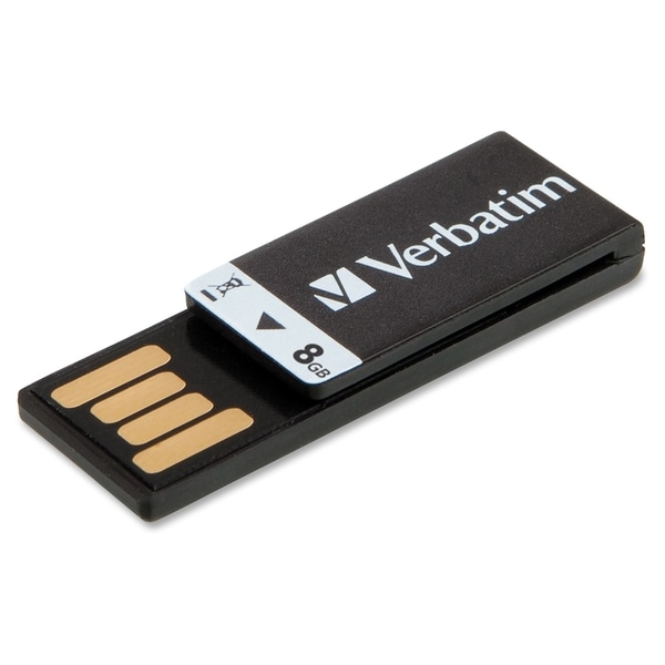 Verbatim 8GB Clip-It USB Flash Drive - Black