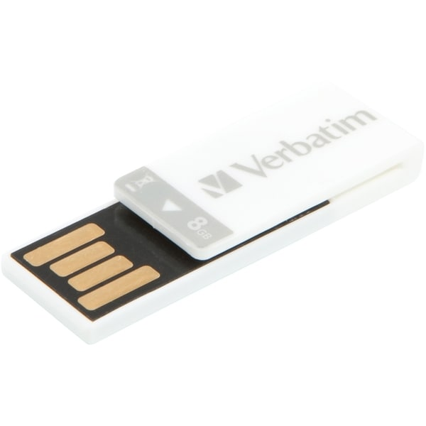 Verbatim 8GB Clip-It USB Flash Drive - White