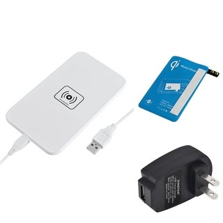 Insten Qi White Wireless Power Charger Charging Pad With Receiver for Samsung Galaxy S5 SM-G900