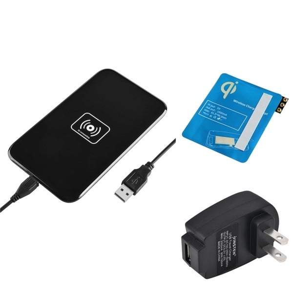 Insten Qi Black Wireless Power Charger Charging Pad With Receiver for Samsung Galaxy Note 3 III N9000