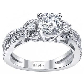 18k White Gold 3/5ct TDW Diamond Semi Mount Engagement Ring (G-H, VS1-VS2) (Size 7)