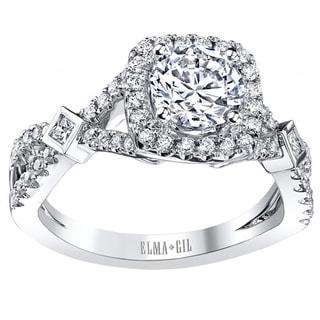 18k White Gold 2/5ct TDW Diamond Semi-mount Engagement Ring (G-H, VS1-VS2) (Size 7)