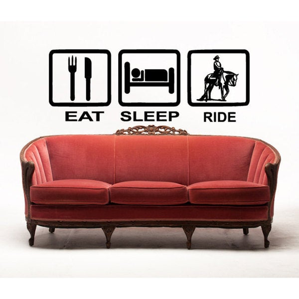 Eat Sleep Ride Horse Vinyl Wall Art