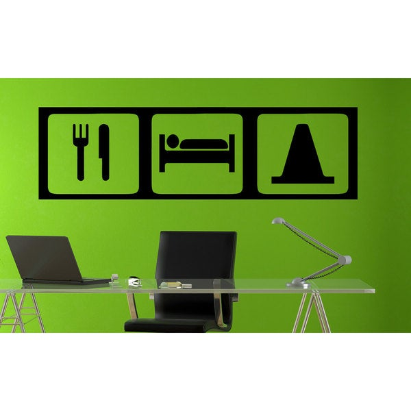 Eat Sleep Race Drifting Vinyl Wall Art