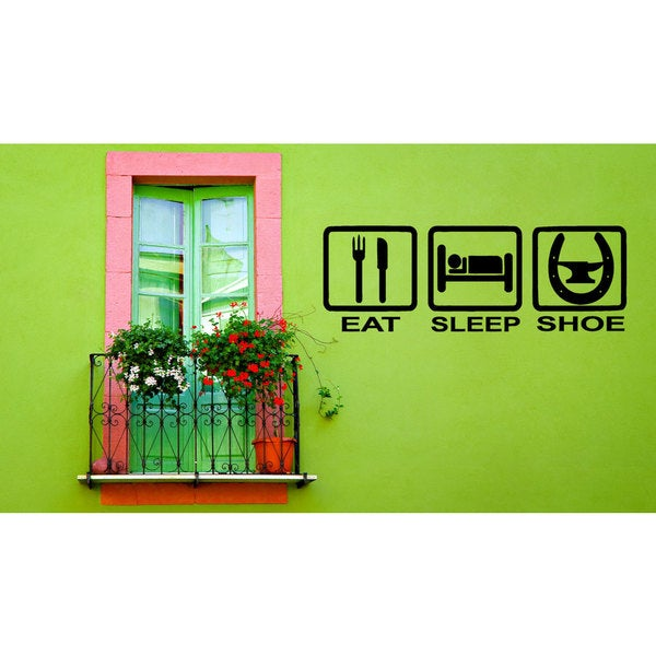 Eat Sleep Jump Horse Vinyl Wall Art