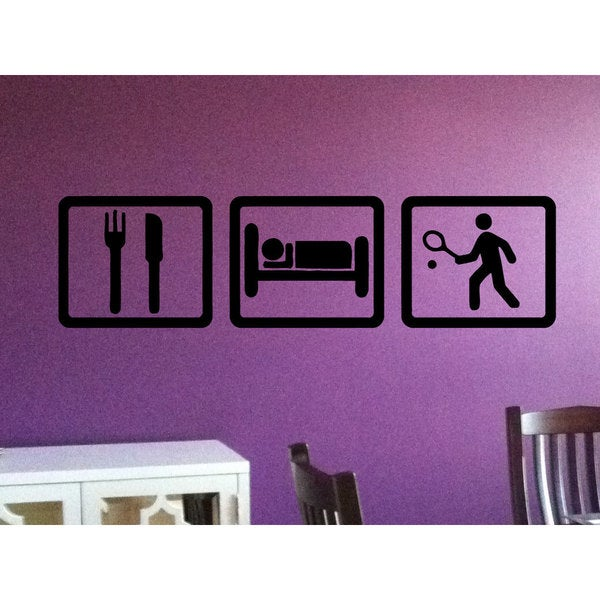 Eat Sleep Tennis Vinyl Wall Art