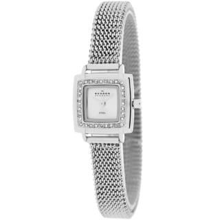 Skagen Women's 821XSSS1 Classic Square Silvertone Bracelet Watch