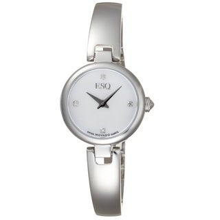 ESQ Women's 7101360 Intrigue White Mother of Pearl Watch
