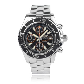 Breitling Men's A13341A8-BA85 'Superocean' Stainless Steel Chronograph Watch