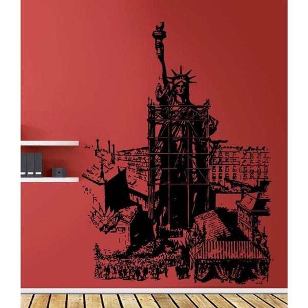 Statue of Liberty arrival NY New York Vinyl Wall Art