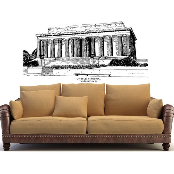 Lincoln Memorial DC Washington Vinyl Wall Art