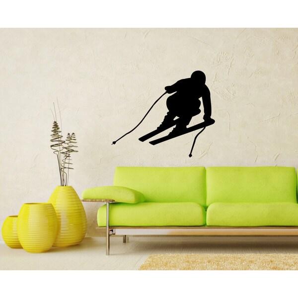 Ski Skiing Slalom Vinyl Wall Art