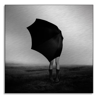 Eddie O'Bryan's 'Girl with Umbrella' Print on Metal