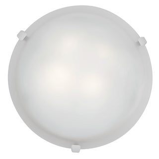 Access Lighting Mona LED 12-inch Wall/ Flush Mount, White with White