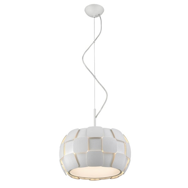 Access Lighting Layers LED 14-inch Pendant, White