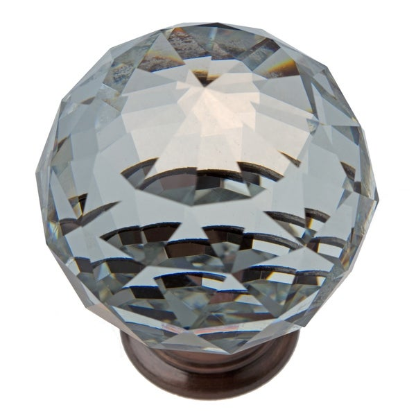 gliderite clear k9 crystal cabinet knobs oil rubbed bronze pack of 10 or 25. Black Bedroom Furniture Sets. Home Design Ideas