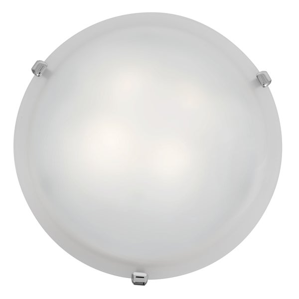 Access Lighting Mona LED 12-inch Wall/ Flush Mount, Chrome with White