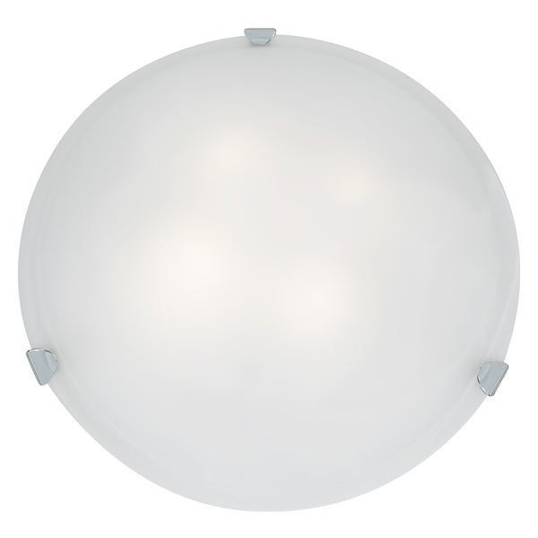 Access Lighting Mona LED 20-inch Wall/ Flush Mount, Chrome with White