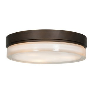 Access Lighting Solid 3-light 11-inch Flush Mount, Bronze