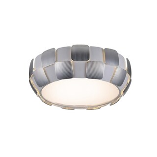 Access Lighting Layers 4-light 18-inch Flush Mount, Chrome
