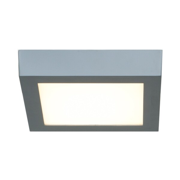 Access Lighting Strike LED Square 7-inch Flush Mount, Silver