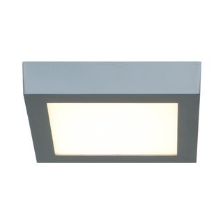 Access Lighting Strike LED Square 7-inch Flush Mount, Silver